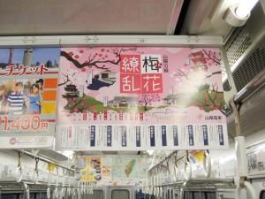 山陽電車の観梅ポスター(電車中吊り)